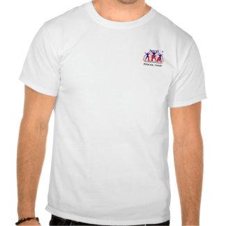 Logotipo pessoal da parte dianteira do instrutor d camiseta