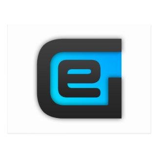 Logotipo POR EXEMPLO básico Cartão Postal