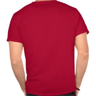 Logotipo preto, baliza grande do texto branco camiseta
