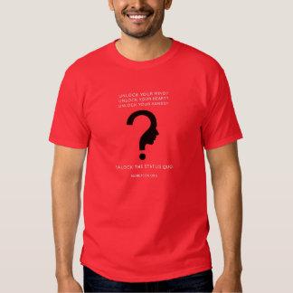 Logotipo preto, baliza grande do texto branco camisetas