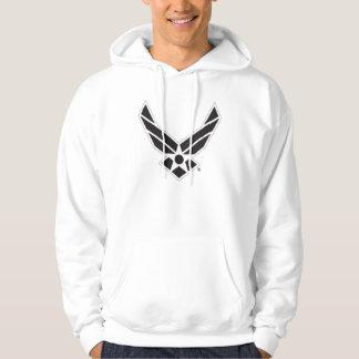 Logotipo preto & branco da força aérea de Estados Moleton Com Capuz