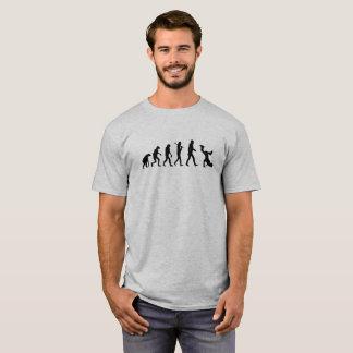 Logotipo preto de Breakdance da evolução engraçado Camiseta