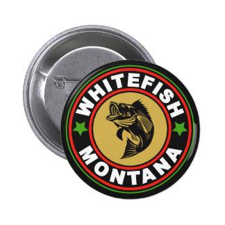 Logotipo preto do círculo do peixe branco boton