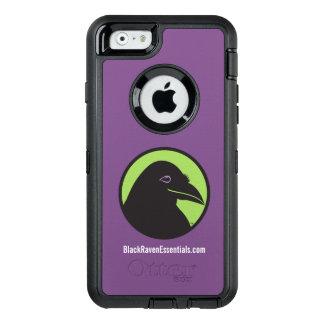 Logotipo preto dos fundamentos do corvo - caso do