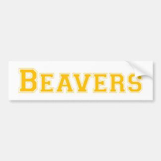 Logotipo quadrado dos castores na laranja adesivo