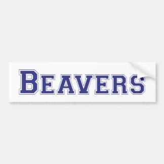 Logotipo quadrado dos castores no azul adesivos