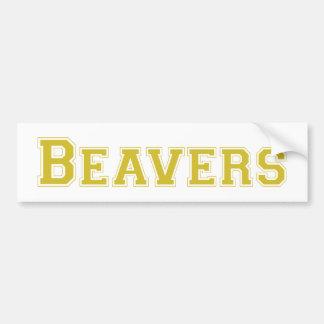 Logotipo quadrado dos castores no ouro adesivo