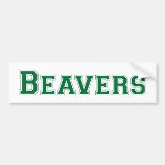Logotipo quadrado dos castores no verde adesivos
