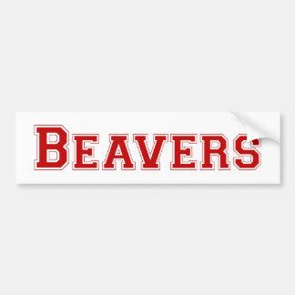 Logotipo quadrado dos castores no vermelho adesivos