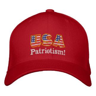 Logotipo R1 do patriotismo dos EUA Boné Bordado