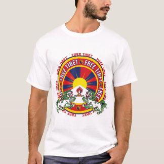 Logotipo redondo livre de Tibet Camiseta
