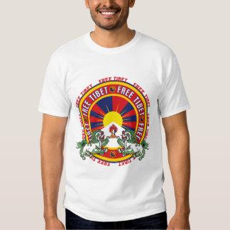 Logotipo redondo livre de Tibet T-shirt