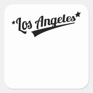 Logotipo retro de Los Angeles Adesivo Quadrado