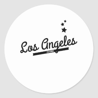 Logotipo retro de Los Angeles Adesivos Em Formato Redondos
