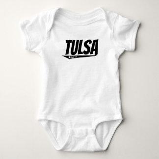 Logotipo retro de Tulsa Body Para Bebê