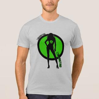 "logotipo ""sexy"" da camisa dos homens da silhueta"