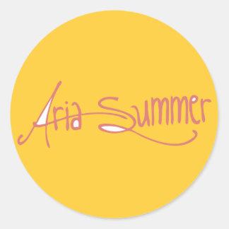Logotipo Sticket do verão da ária Adesivo Em Formato Redondo