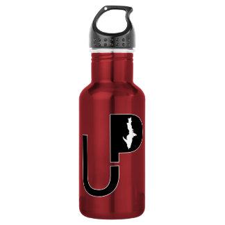 Logotipo superior da península (preto) na garrafa