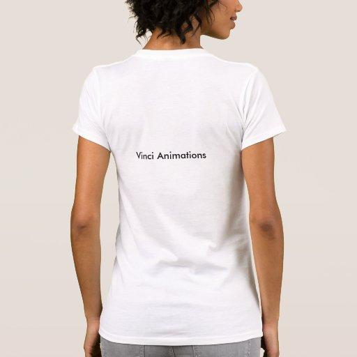 Logotipo T das animações do Vinci da mulher Camisetas
