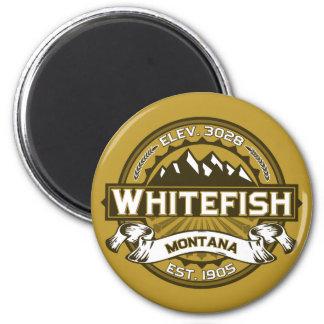 Logotipo Tan do peixe branco Ímã Redondo 5.08cm