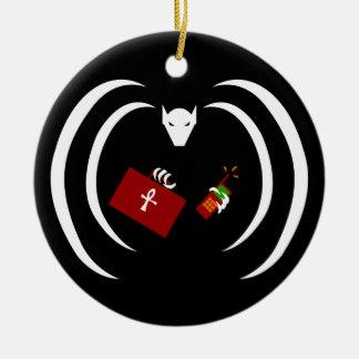 Logotipo tradicional no ornamento do feriado