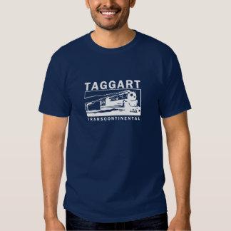 Logotipo Transcontinental/branco de Taggart T-shirt