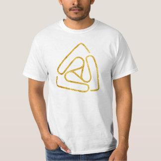 Logotipo vago aberto do ouro t-shirt