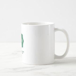 Logotipo verde caneca de café