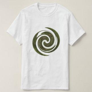 Logotipo verde da energia da roda camiseta