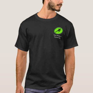 Logotipo verde da malhação do fulgor camiseta
