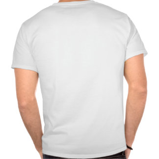 Logotipo vermelho, baliza grande do texto preto t-shirts