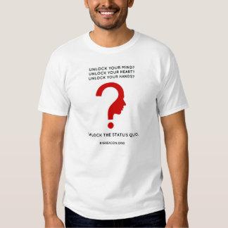 Logotipo vermelho, baliza grande do texto preto camisetas