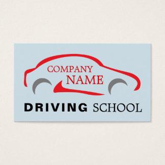 Logotipo vermelho do carro, instrutor de condução cartão de visitas