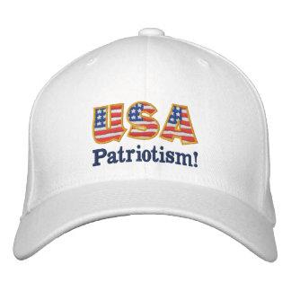 Logotipo W1 do patriotismo dos EUA Boné Bordado