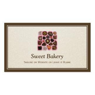 Loja Assorted doce dos chocolates - elegante Cartão De Visita