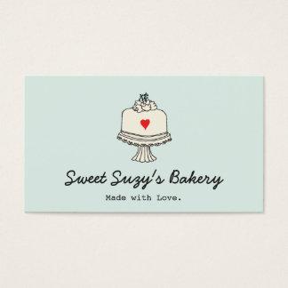 Loja bonito do assar do padeiro do bolo cartão de visitas