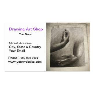 Loja da arte do desenho de lápis da mão cartoes de visita