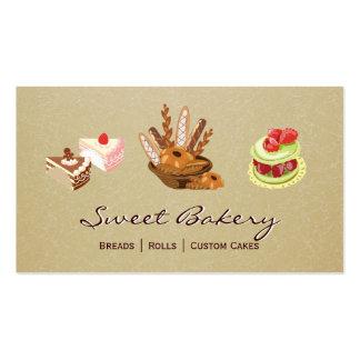Loja da padaria da sobremesa de Rolls dos bolos & Cartão De Visita