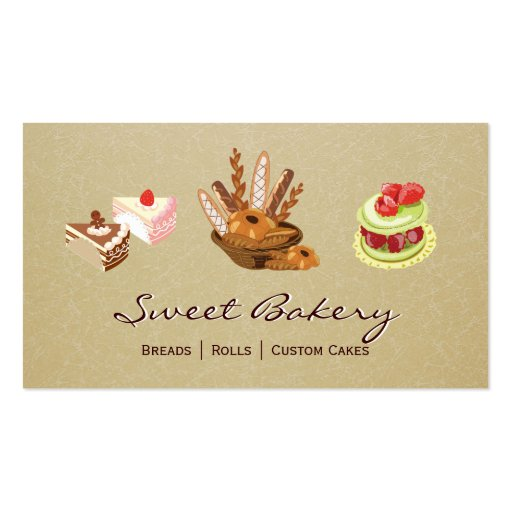 Loja da padaria da sobremesa de Rolls dos bolos &  Cartoes De Visitas