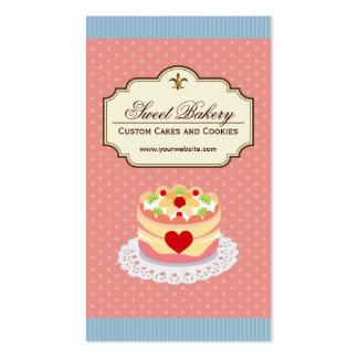 Loja da padaria da sobremesa dos bolos e dos cartão de visita