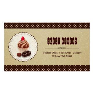 Loja da padaria do bolo de chocolate doce - Brown Cartão De Visita