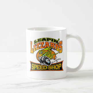 Loja da velocidade de Leapin Lizzard Caneca De Café