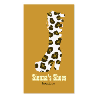 Loja de calçados modelo cartões de visita