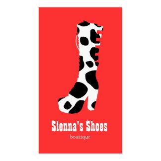 Loja de calçados modelos cartoes de visitas