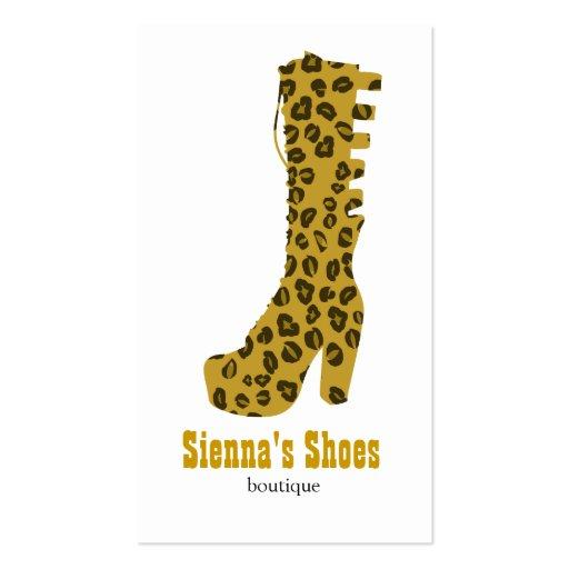 Loja de calçados cartao de visita