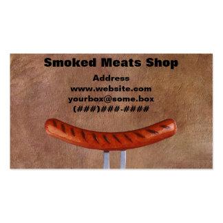 Loja de carnes fumado modelo de cartões de visita