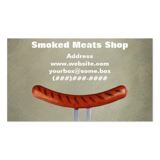 Loja de carnes fumado modelos cartao de visita