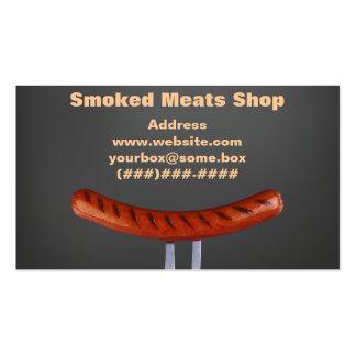 Loja de carnes fumado cartões de visita