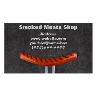 Loja de carnes fumado cartão de visita