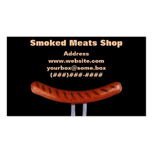 Loja de carnes fumado cartao de visita